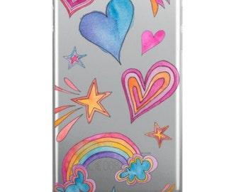 Heart & Rainbows - Phone Case
