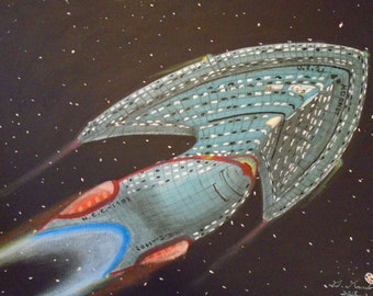 For sale original acrylic paintings of star ships.