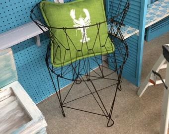 Vintage Wire Laundry Basket/Storage/Toys