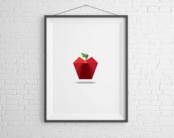 Apple Print. Home Decor. Instant Download.