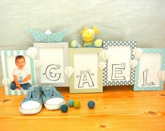 composition / pell-mell of 5 frames children