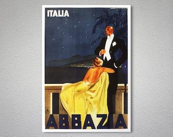 Abbazia  Italy Travel Poster - Poster Print, Sticker or Canvas Print