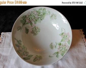 Christmas In July Hydrangea Fine China Serving Bowl