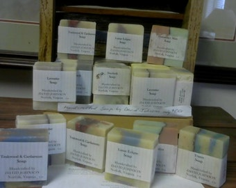 Hand crafted soaps 4oz bars - - 10 blends to choose from-