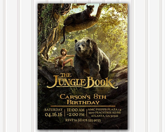 Jungle Book Movie Invitation