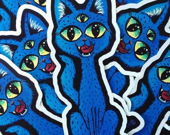 Sticker: Blue Kitty