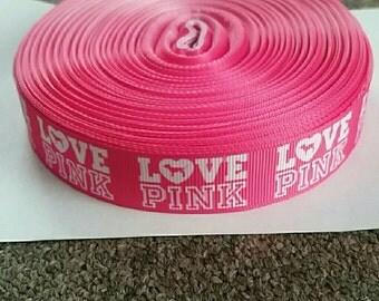 Victoria's Secret Love Pink Ribbon  1 Yard