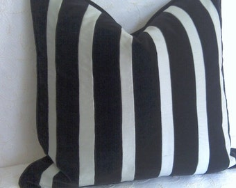Black and Grey Stripe pillow cover