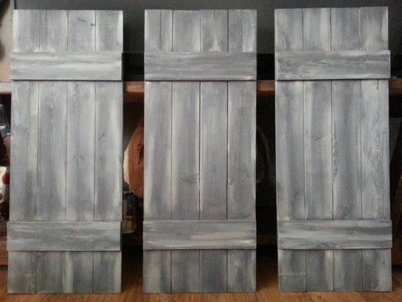 Custom Shutter Set Includes 3 Rustic Shutters Reclaimed
