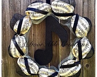 Music Note Wreath