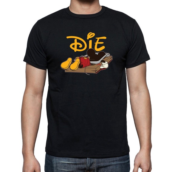 mickey die t shirt mouse trap funny dead comic by 969tshirts