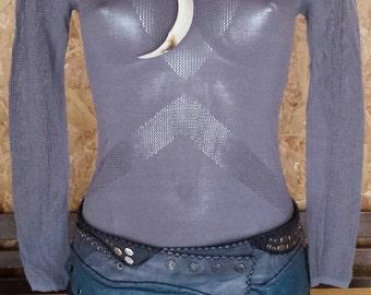 /gris blue tunic sweater