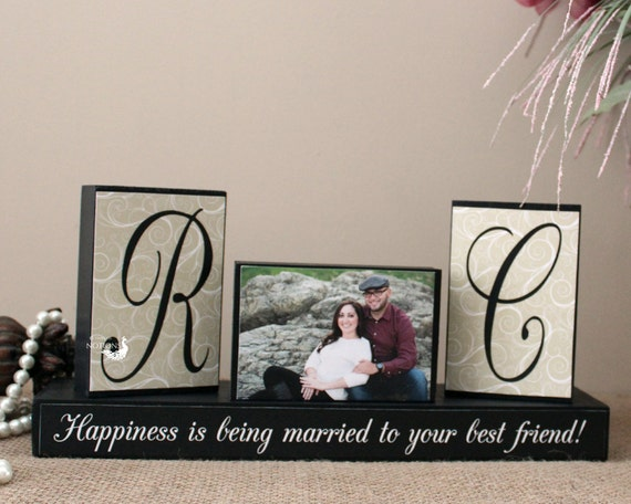 Special Wedding Gift For Friend : Personalized Unique Wedding Gift for Couples - Wedding Wood Sign ...