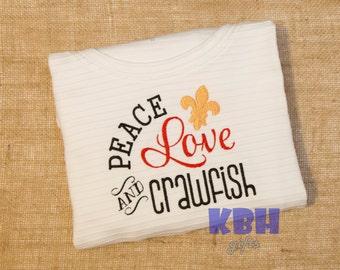 Embroidered Crawfish Shirt
