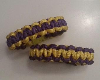 LA Lakers Paracord Bracelet, Cobra Weave Paracord Bracelet, Survival Bracelet