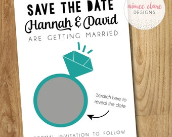 Scratch and Reveal Save The Date Invitation