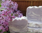 Lilac Soap w/Shea Butter, Natural Soap, Handmade Soap, Spa Soap, Cold Process Soap, Homemade Soap, Artisan Soap, New Hampshire Soap,Spa Bar