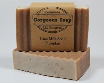 Pumpkin Goat Milk Soap - All Natural Soap, Handmade Soap, Homemade Soap, Handcrafted Soap