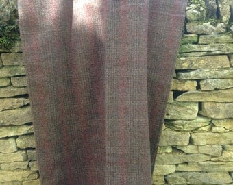 Vintage wool tweed blanket