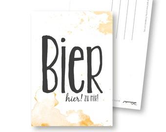 Postcard, beer, recycling, beer menu, beer coasters, card for lovers of beer, Oktoberfest, wheat, PILS, Pilsener, craft beer, beer garden