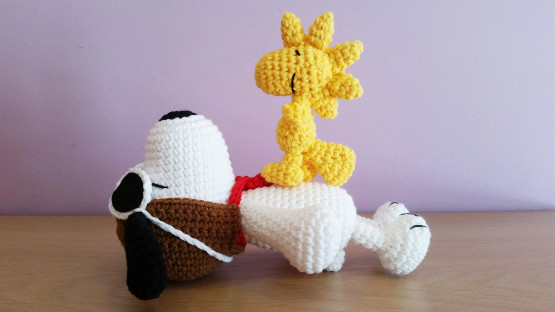 How To Crochet A Amigurumi : Crochet Snoopy Amigurumi Handmade Crochet Amigurumi Toy Doll