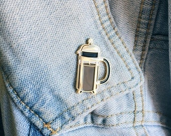 French Press enamel pin by VGRTN