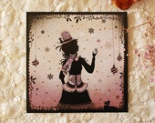 Christmas card - Miss Shadow - The Hat