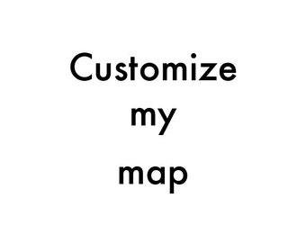Customize the size and color of my street map