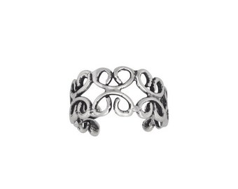ON SALE Sterling Silver .925 Wirework Toe Ring adjustable size | Made In USA