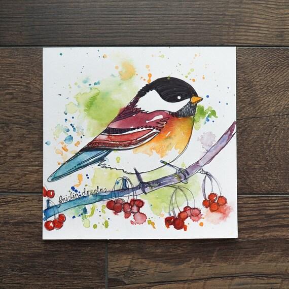 Song Bird- Watercolor Print