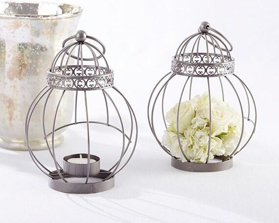 Vintage bird cage lantern silver antique hanging by