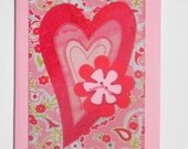 Heart Mom Birthday Card Friend Her Him Mom Day Housewarming Wedding Thank You Gift Hello Frame 5x7 BUY 5 CARDS-get 6th one FREE-heart #715