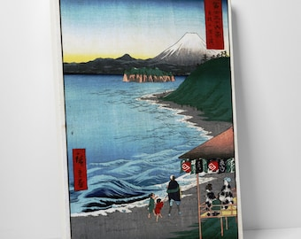 Japanese Art Hiroshige's The Seven Ri Beach Gallery Wrapped Canvas Print
