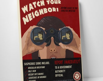 Steve Thomas 'Watch Your Neighbor!' Gallery Wrapped Canvas Print