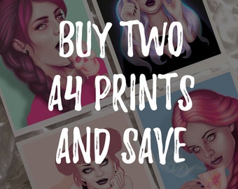 2 A4 Prints Offer // Illustrated Giclee Art Print // Wendy Stephens