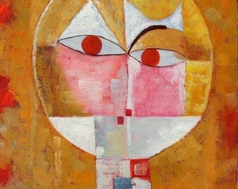 paul klee head of man - Paul Klee high quality hand-painted oil painting reproduction for home decor item or gift