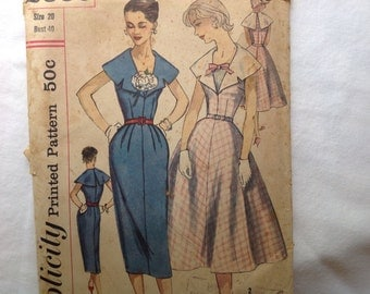 Simplicity Pattern 2000 from the 1950s