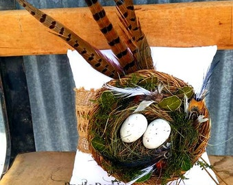 Nest Ring Bearer Pillow