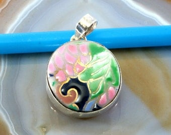 Porcelain and silver, pendants - 6216