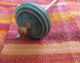 Top Whorl Painted Cherry Drop Spindle #24