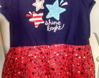 Baby girl shine bright dress 12m