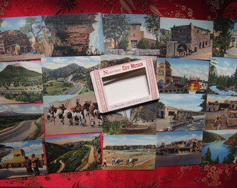 1930s Souvenir Mini Post Card Set/ 1930s New Mexico Mini Post Cards