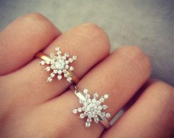 snow flower ring