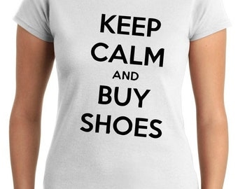 T-shirt Woman TDM00144 keep calm and buy shoes