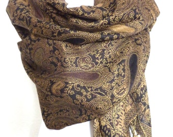 XXL Cashmere Scarf Paisley Print Stola Pullover Paisley Poncho Fashion Accessories