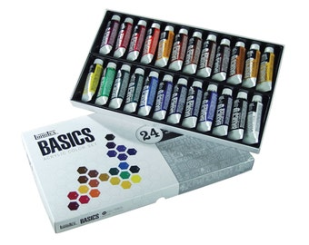 Acrylic Paint Set; Tube, 24 Piece Acrylic Paint Art Set