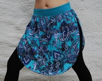 Yoga Skirt- yoga tutu skirt with side slits, athletic skirt, active wear, dance coverup, bathing suit coverup, sarong knee length skirt