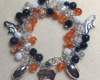 Denver Broncos CHarm Jingle Bracelet