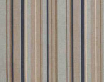 Premier Prints Indigo/Laken Stripe Fabric Upholstery Remnant