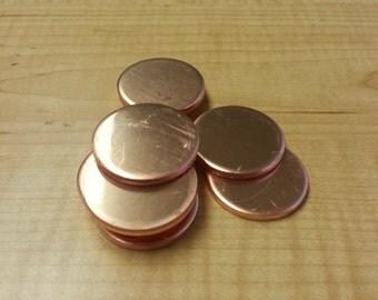 24 Gauge Copper Discs